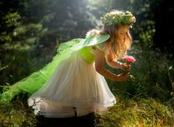 Little girl with backlighting