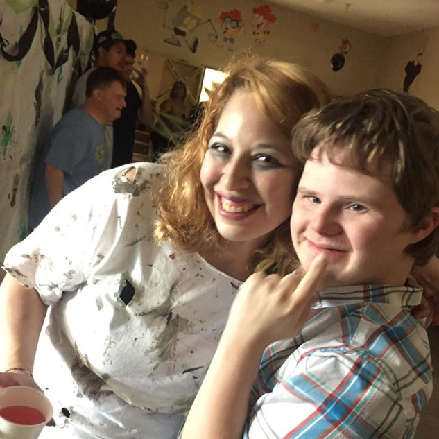 Jake with paraprofessional Ms. Lesley