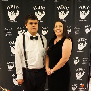 Noah and his Mom the guest speaker