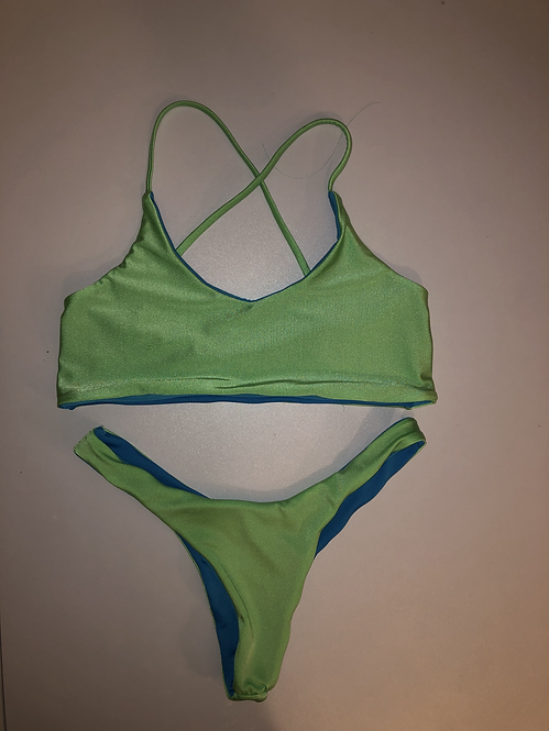 Green and blue Reversible Two Piece