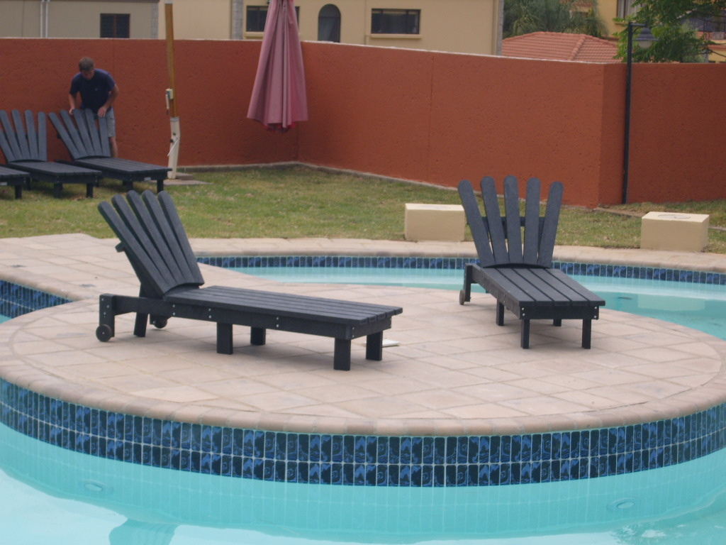Pool Loungers with Flared Headrest