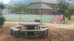 Hexagonal Picnic Bench Set with Cutaway Seats