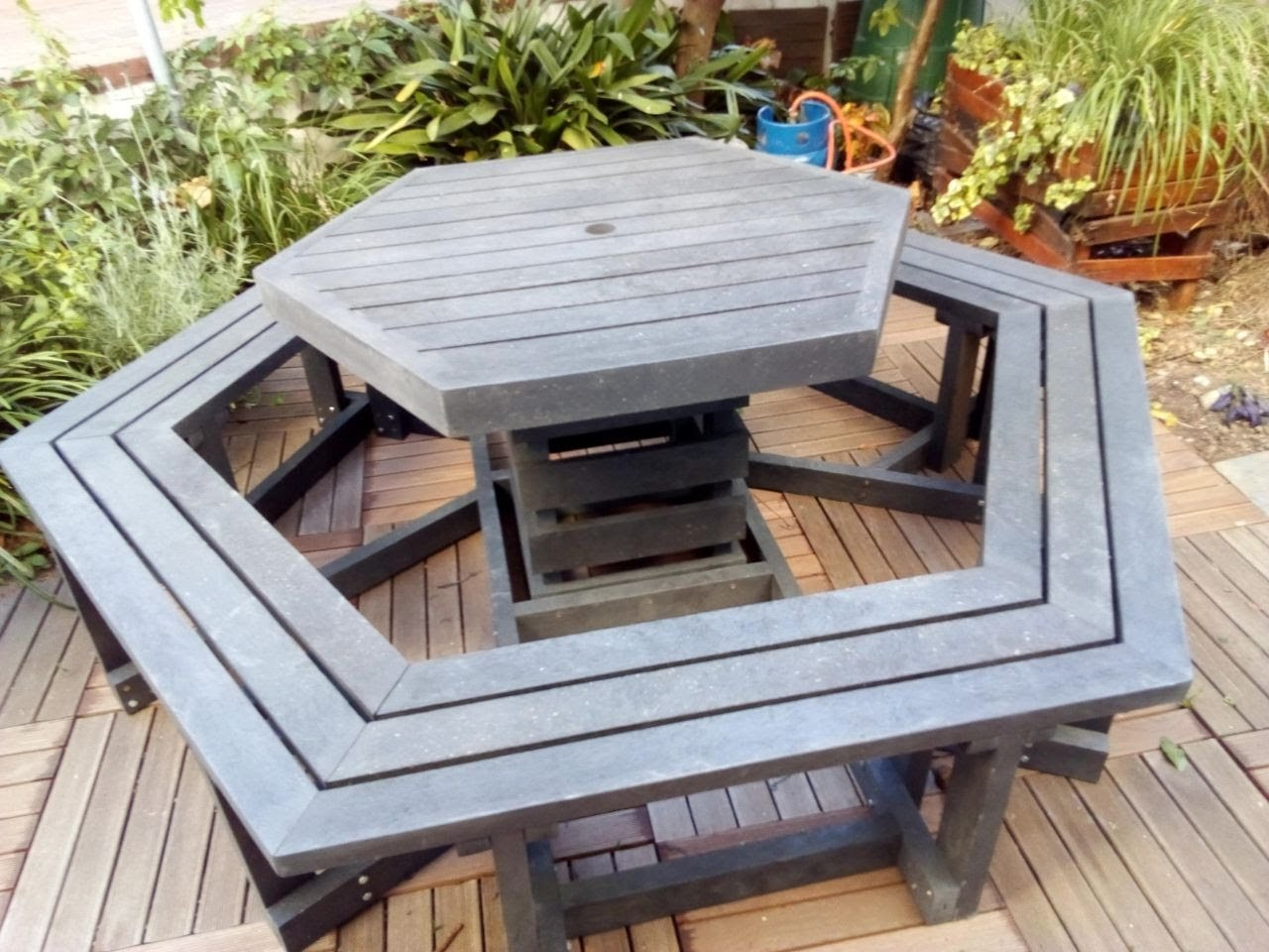 Hexagonal Picnic Bench Set