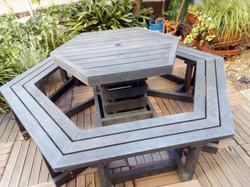 Hexagonal Picnic Bench Set