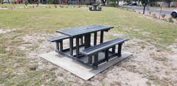 Picnic Bench Set in Concrete Base