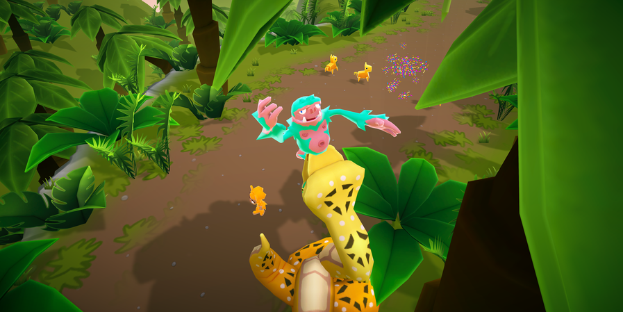 Chompster Getting Eaten by a Snake
