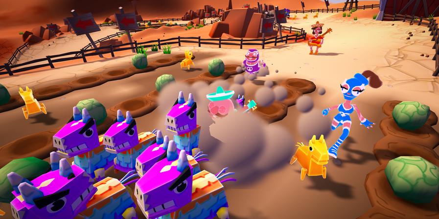 4 Player Race through the Desert