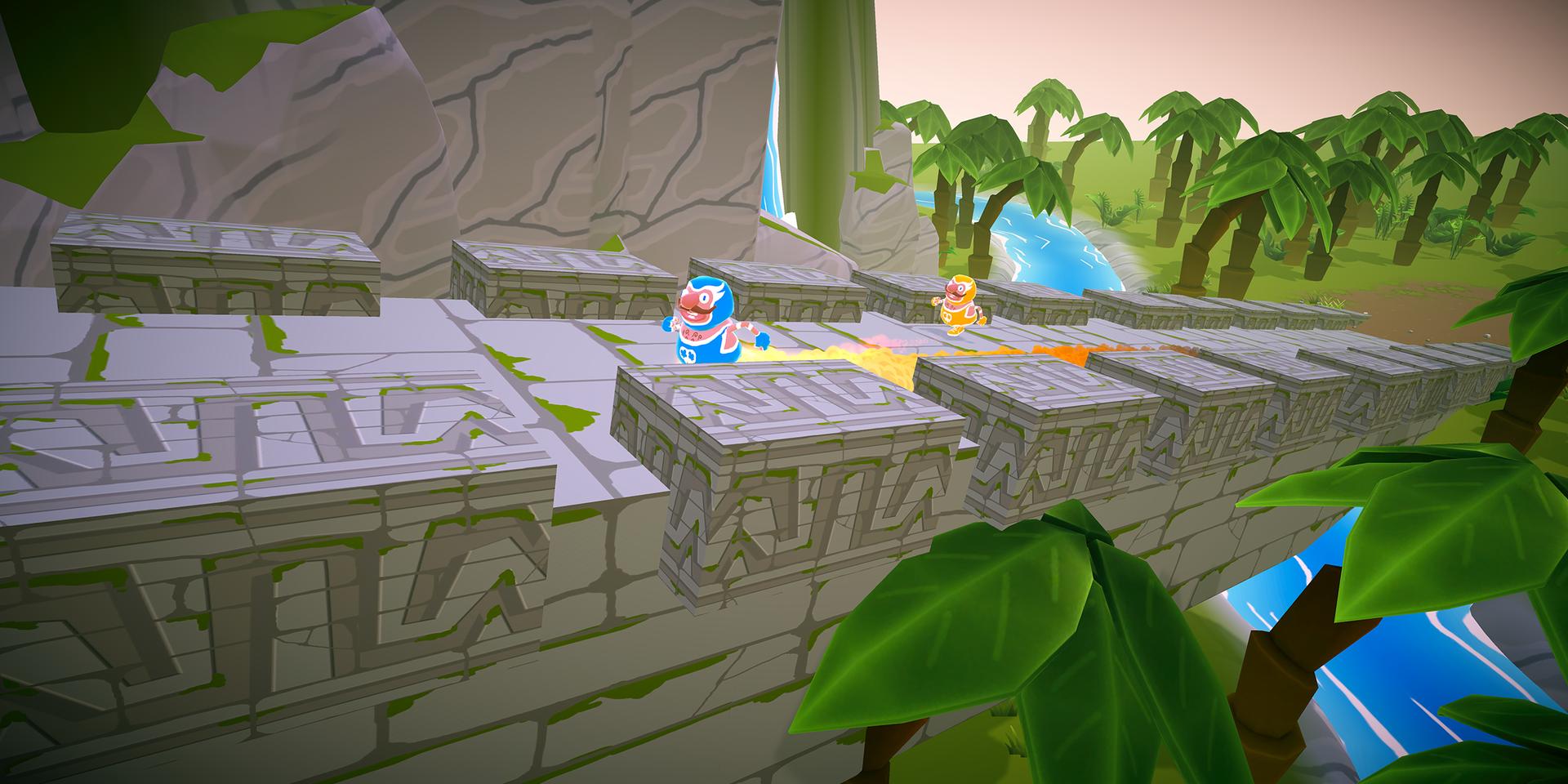 Racing Over Mayan Bridges in the Jungle