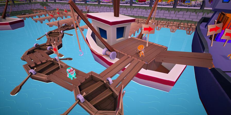 Racing Around the Docks