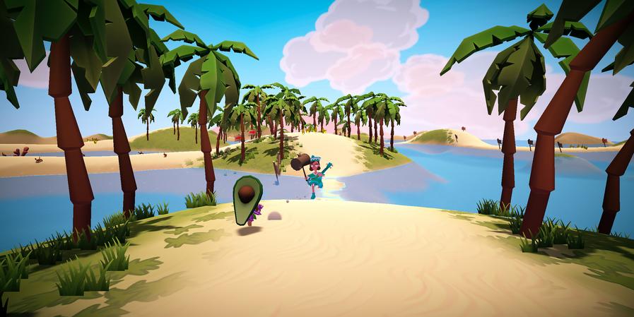 Racing through a Tropical Island