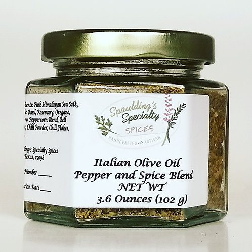 Italian Olive Oil Pepper and Spice Blend