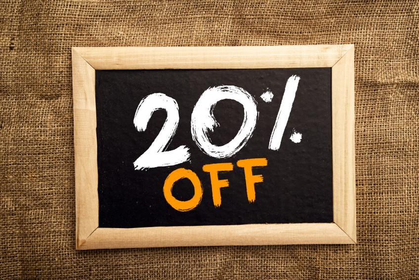 20 Percent Off Flash Sale