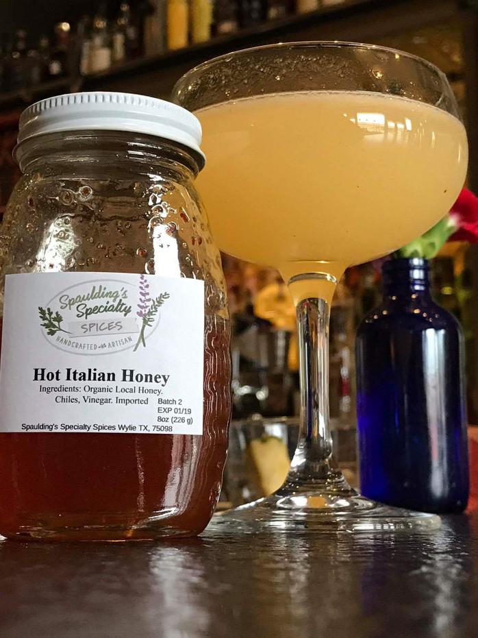 Drink Recipe w Hot Italian Honey  from Rapscallion's own Ravinder Singh