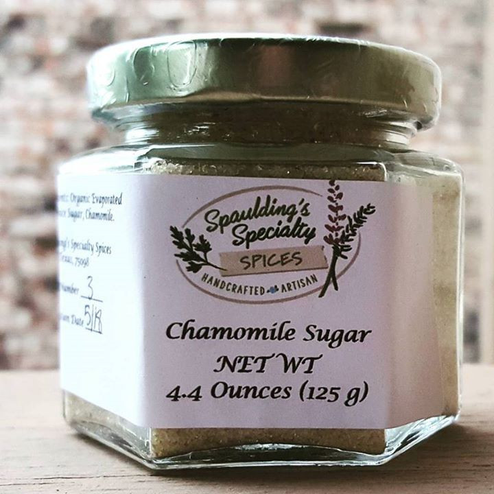 Spaulding's Specialty Spices, Sugar, Organic, Chamomile, Tea, Baked Goods