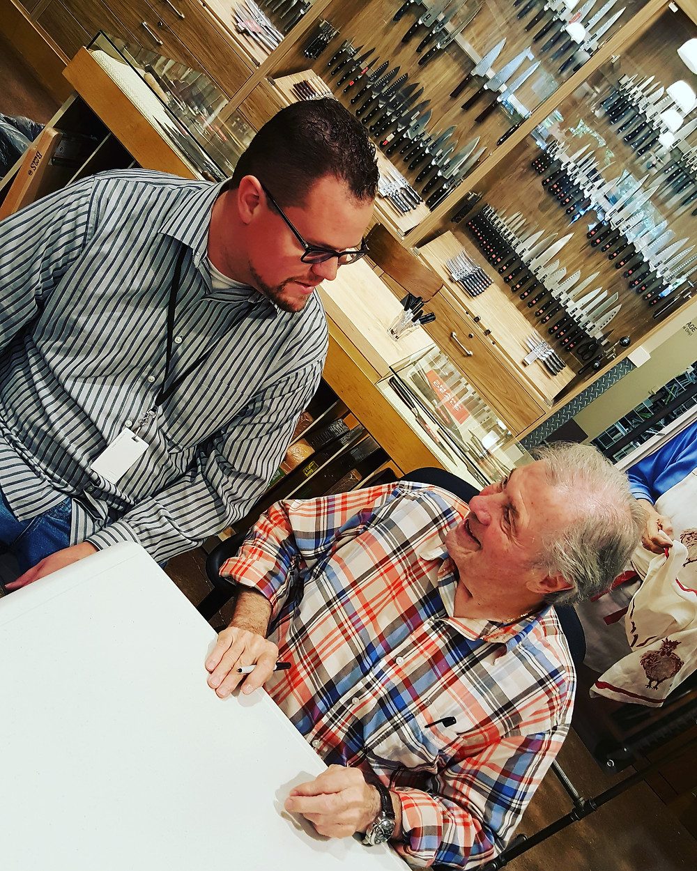 Sharing a moment with Jacques Pepin