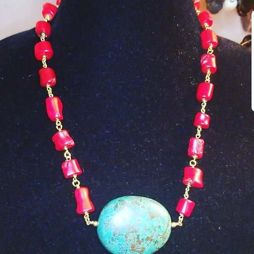 Coral and Turquoise ExtrAVAgance
