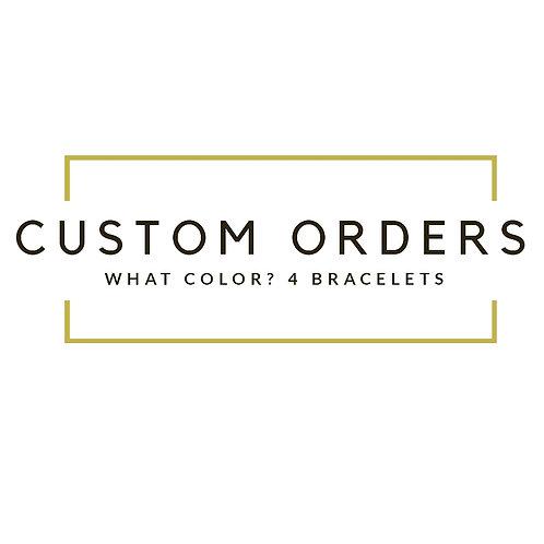 Custom 3 bracelets stack