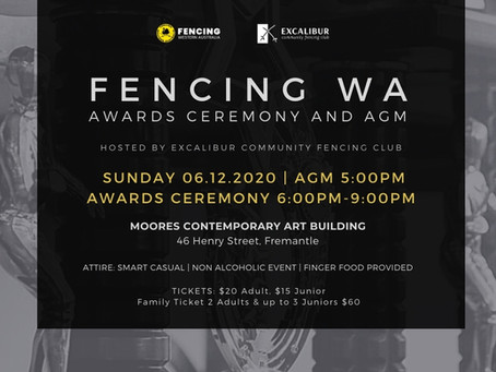 FencingWA Awards Ceremony and AGM 2020