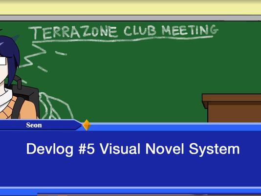 TerraZone: Shoot for the Stars Devlog 5: Visual Novel System