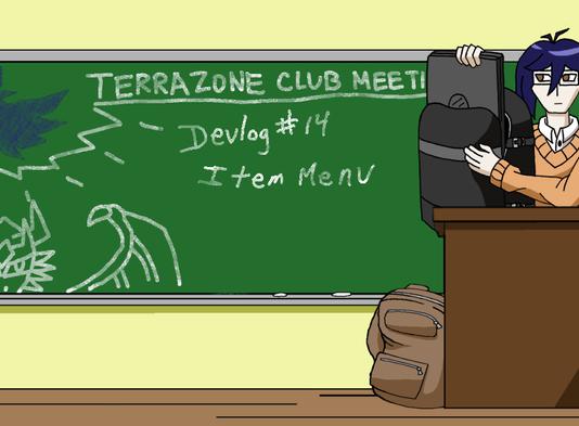 TerraZone: Shoot for the Stars Devlog 14:Item Menu