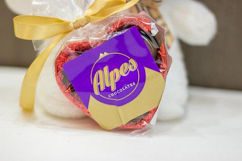 Coração de chocolate com pingos ao leite 60g