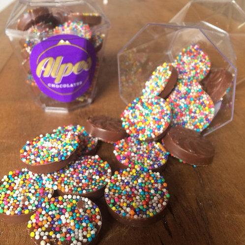 Caixa de Chocolate com Miçangas 100g