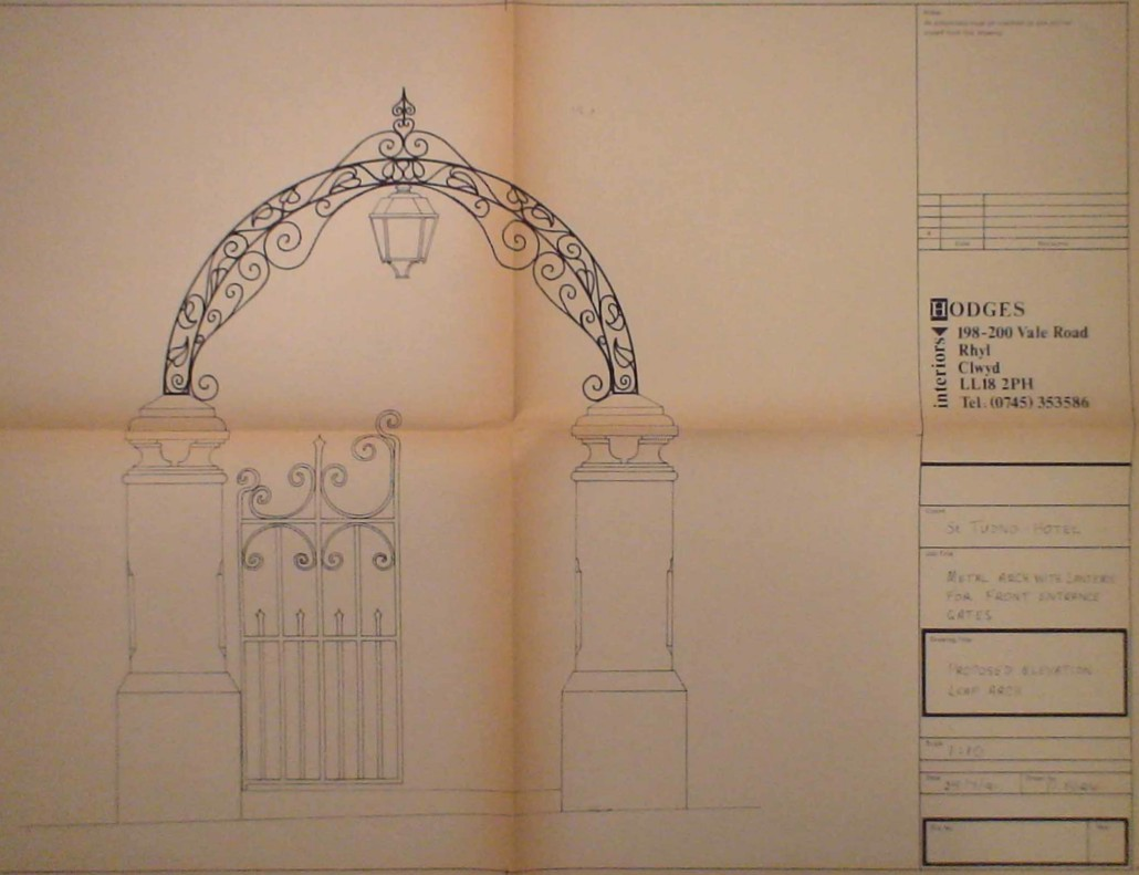 Wrought Iron Arch Drawing