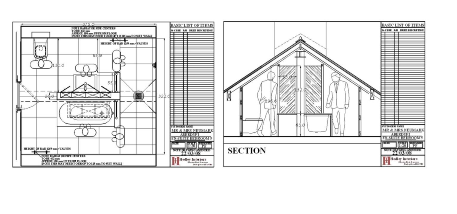 CAD PLAN FOR ROOF AREA EN SUITE