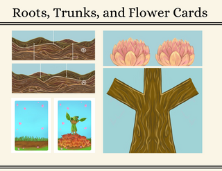 Roots, Trunks, and Flower Cards art