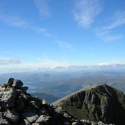 view from top Beinn Nam Bidean Glencoe