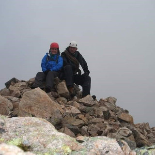 Summitting the 'Buckle' with my mountain