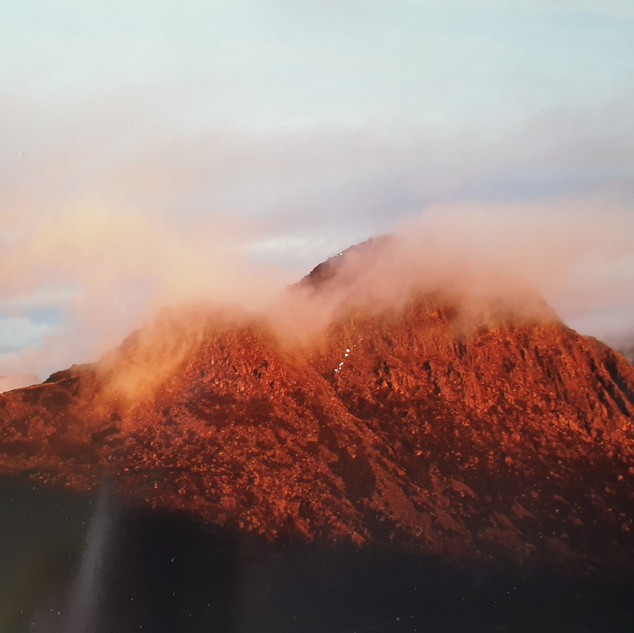 Sunrise over Tryfan after a wild camp