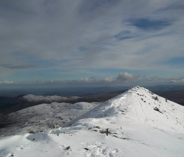 Snowy day on Ben More