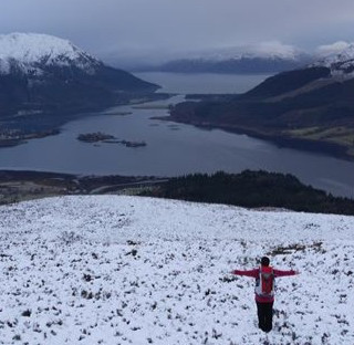 Pap of Glencoe looking out on to loch even
