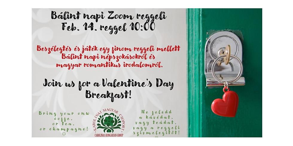 Bálint napi Zoom reggeli