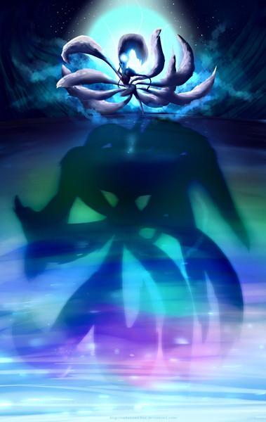 Ahri in Moon Light - League Of Legends