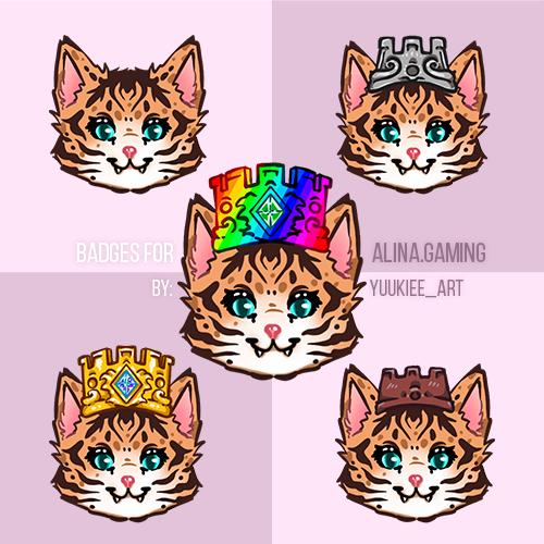 Badges for Alina.Gaming
