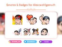 Alexcwohlgemuth Emotes & Badges - social