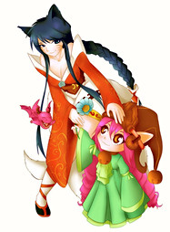 Ahri and Dragon Trainer Lulu - League Of Legends