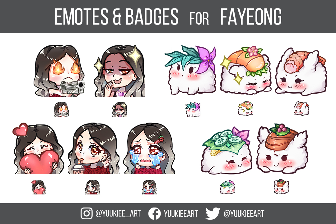 Emotes&Badges for Fayeong- Twitch