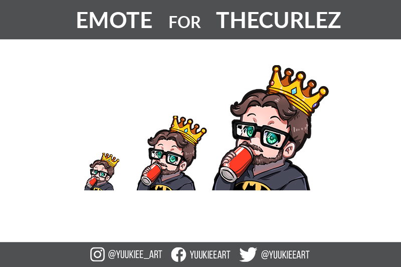 Emotes fo Thecurlez - Twitch