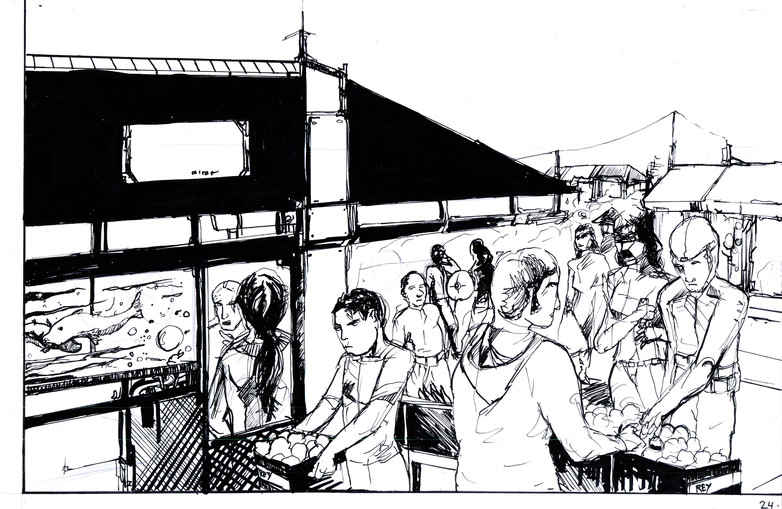 Another view of Mercado Abismo