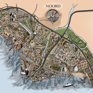 Map of Amsterdam Noord