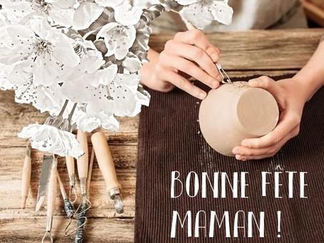 Portes ouvertes dans nos ateliers de poterie pour fêter les mamans! Sam 30 et dim 31 Mai  10 h - 18h