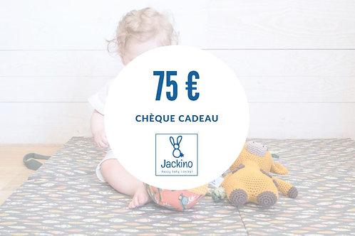 Chèque-cadeau 75€
