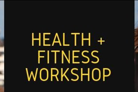 Admit One Health and Fitness Workshop