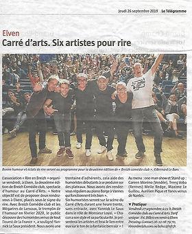 Breizh Comédie Club Le Télégramme 26.09.2019