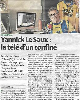 Yannick Le Saux Le Télégramme 31.03.2020