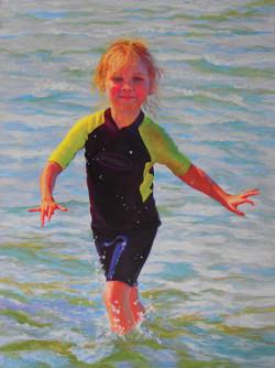 Girl in Waves