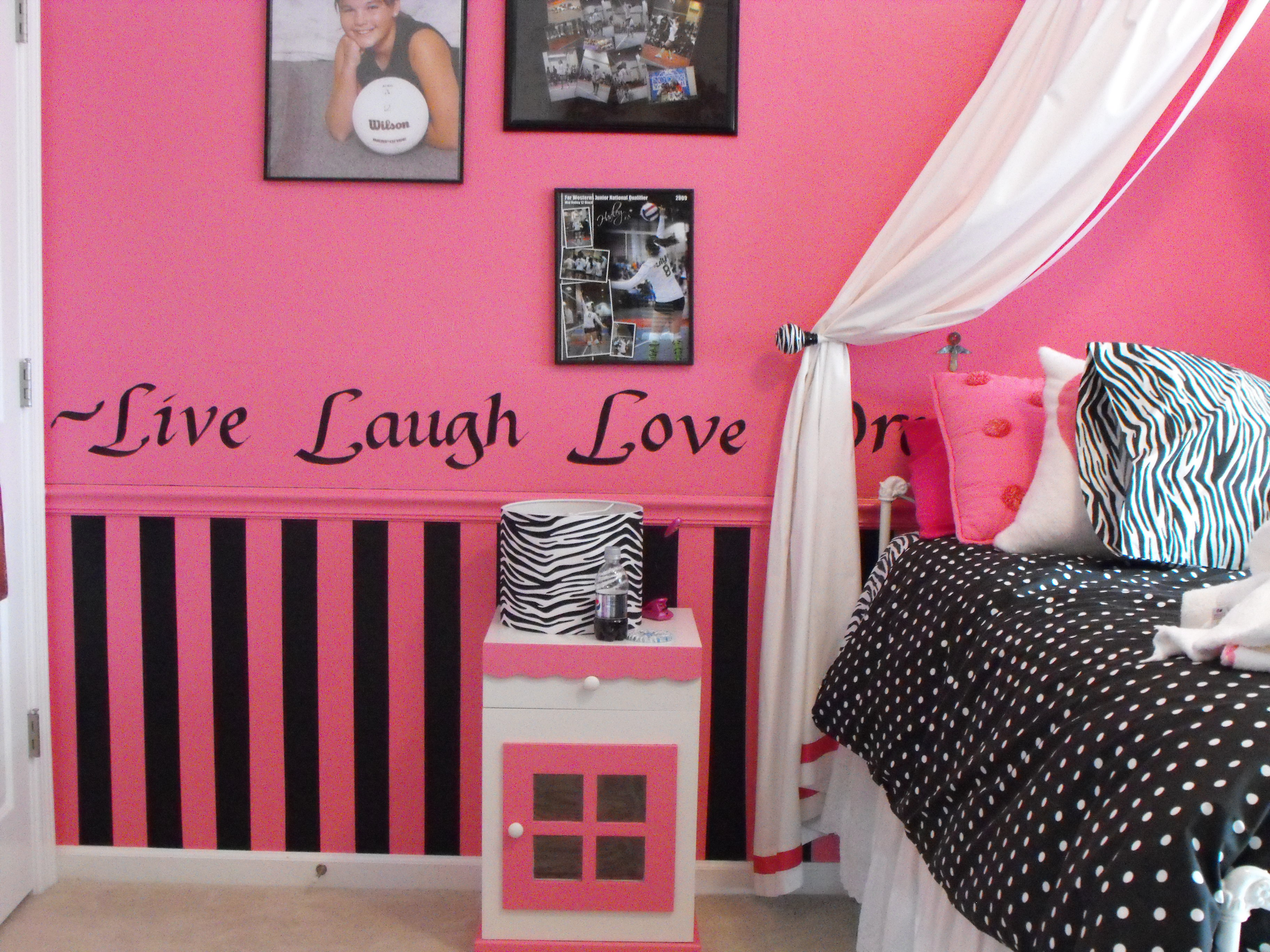 Wall painting for a girl's room!